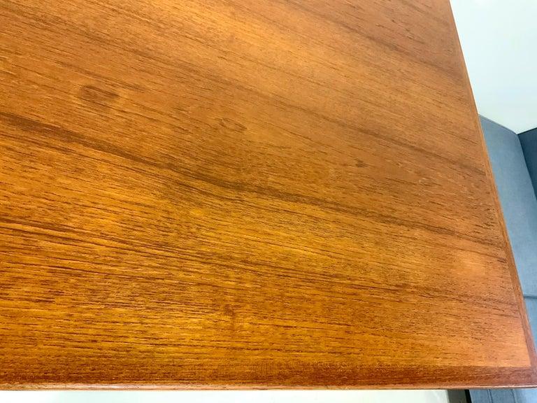 AT-312 Hans Wegner for Andreas Tuck Oak & Teak Midcentury Dining Table, Denmark For Sale 4
