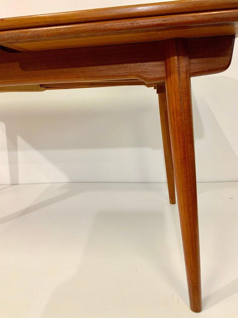Mid-20th Century AT-312 Hans Wegner for Andreas Tuck Oak & Teak Midcentury Dining Table, Denmark For Sale