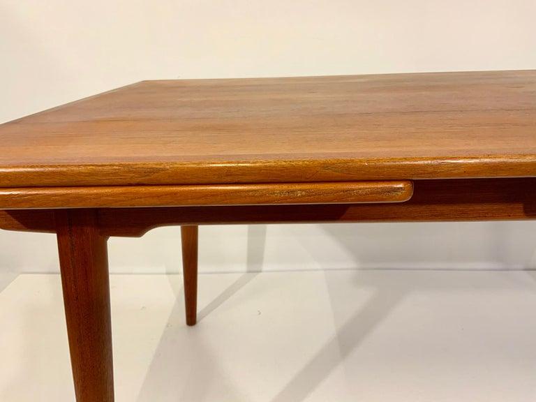 AT-312 Hans Wegner for Andreas Tuck Oak & Teak Midcentury Dining Table, Denmark For Sale 2