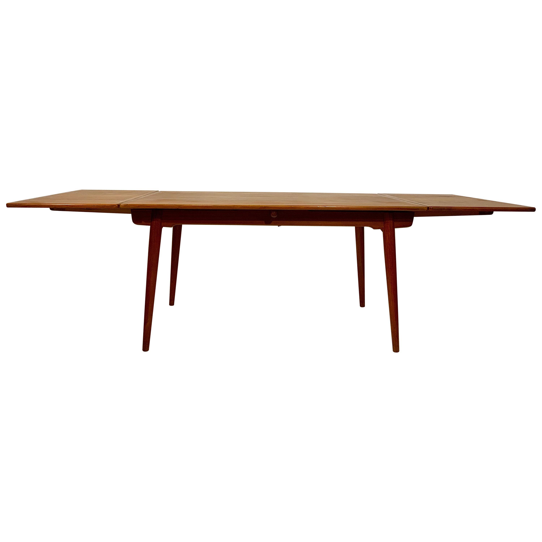 AT-312 Hans Wegner for Andreas Tuck Oak & Teak Midcentury Dining Table, Denmark