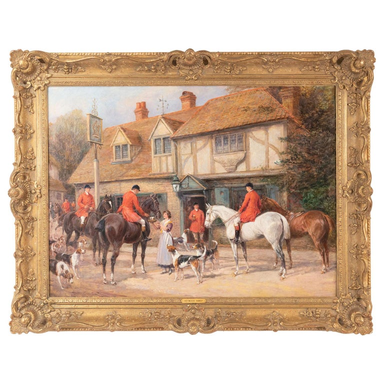 At the Crown Inn by Heywood Hardy For Sale