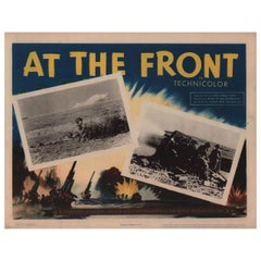 At the Front 1944 U.S. Scene Card