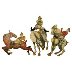 At the Racetrack 4 Piece  Equestrian Wall Sculpture