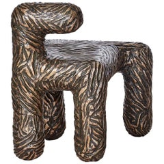 Atang Tshikare, Leng-Kapa-Leng 'Anytime', Bronze Sculptural Seat