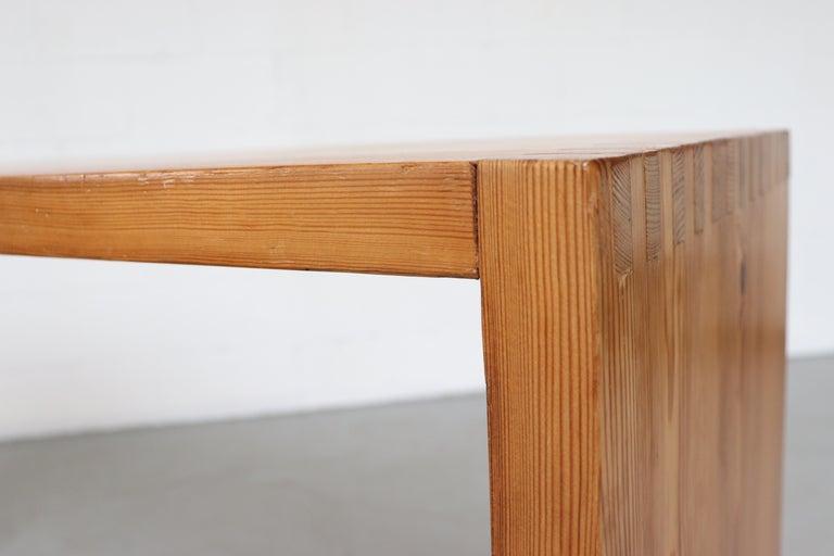 Ate Van Apeldoorn Pine Console Table For Sale 6