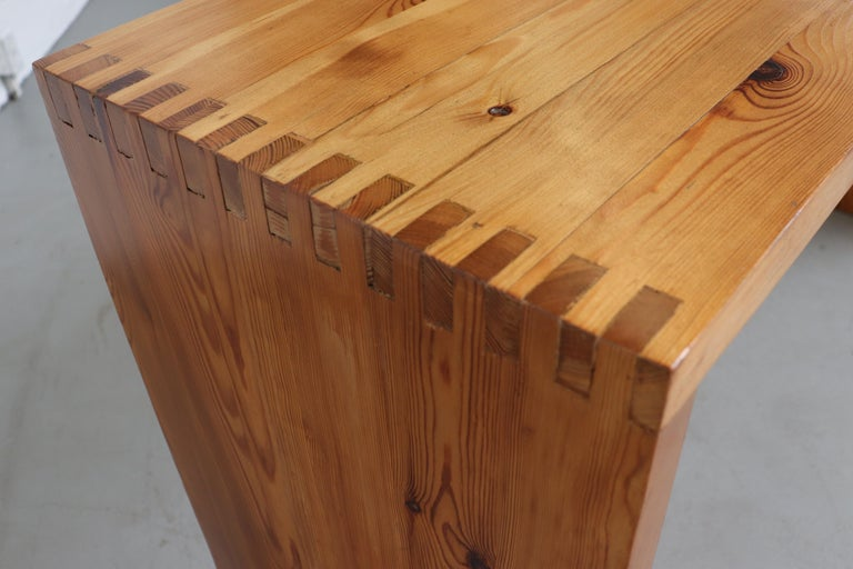 Ate Van Apeldoorn Pine Console Table For Sale 7