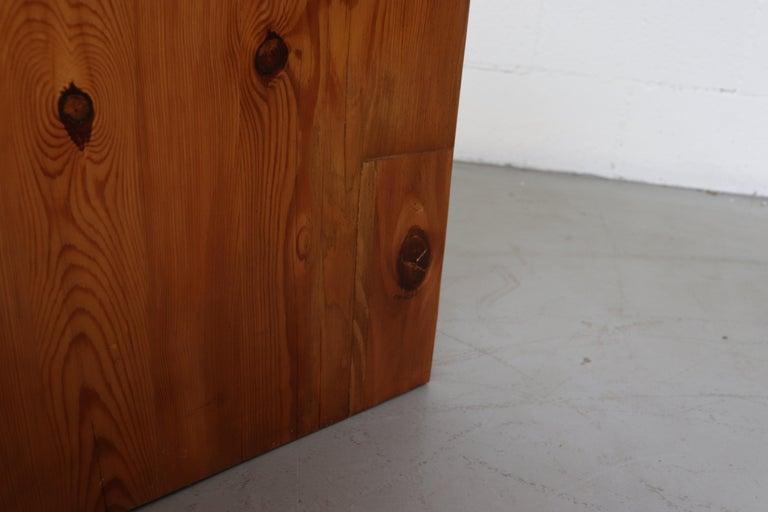 Ate Van Apeldoorn Pine Console Table For Sale 8