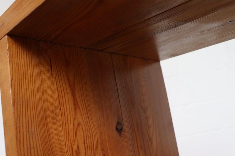 Ate Van Apeldoorn Pine Console Table For Sale 9