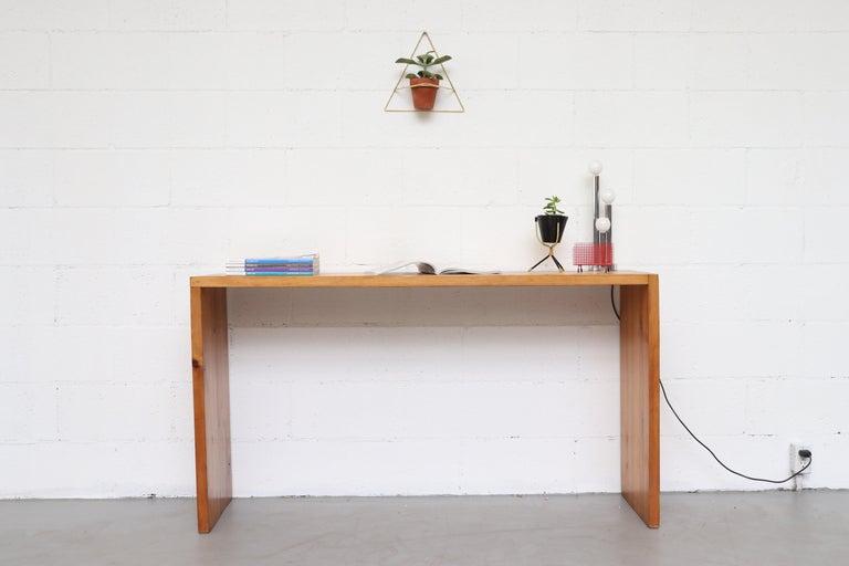 Mid-Century Modern Ate Van Apeldoorn Pine Console Table For Sale