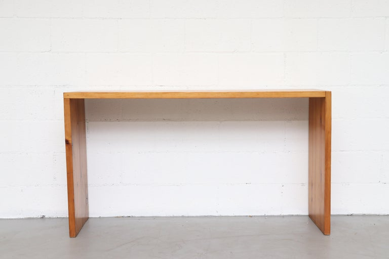 Dutch Ate Van Apeldoorn Pine Console Table For Sale