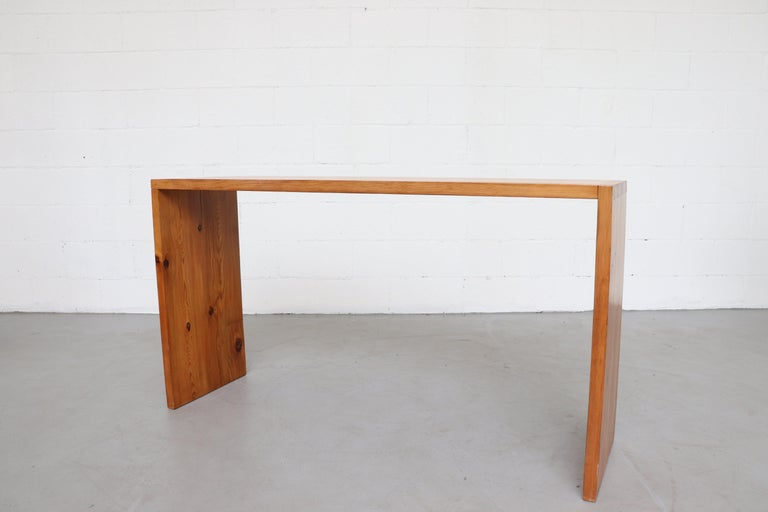 Late 20th Century Ate Van Apeldoorn Pine Console Table For Sale