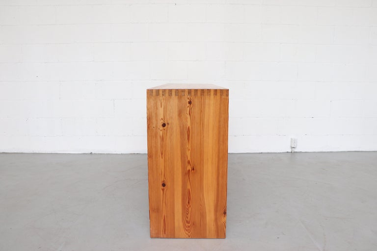 Ate Van Apeldoorn Pine Console Table For Sale 1