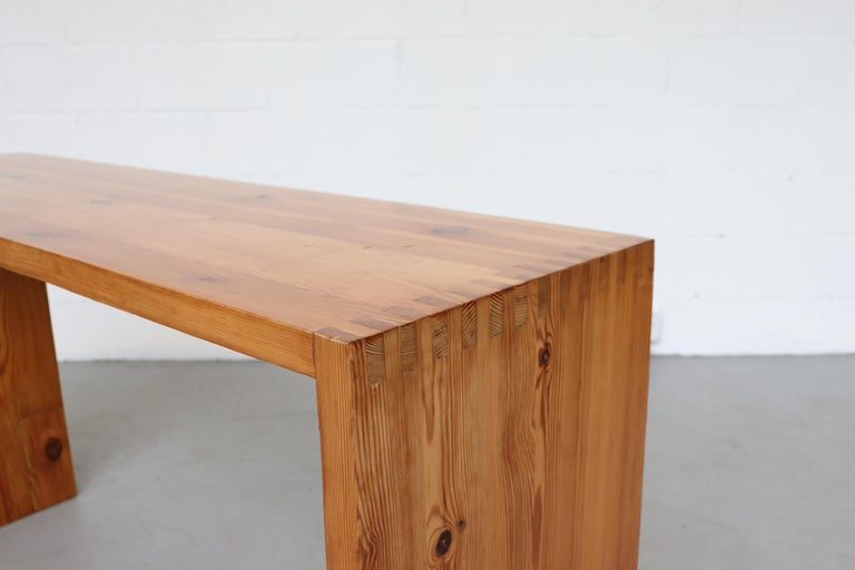 Ate Van Apeldoorn Pine Console Table For Sale 3