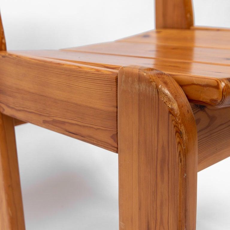 Pine Dining Chairs by Ate van Apeldoorn, 1970s For Sale 4