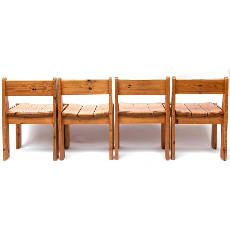 Pine Dining Chairs by Ate van Apeldoorn, 1970s For Sale 5