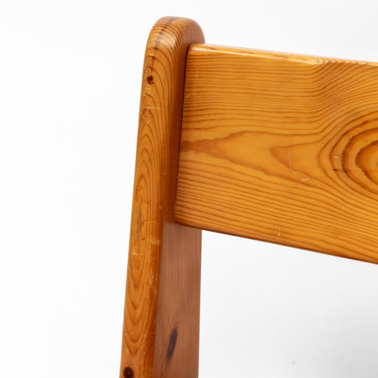 Brutalist Pine Dining Chairs by Ate van Apeldoorn, 1970s For Sale