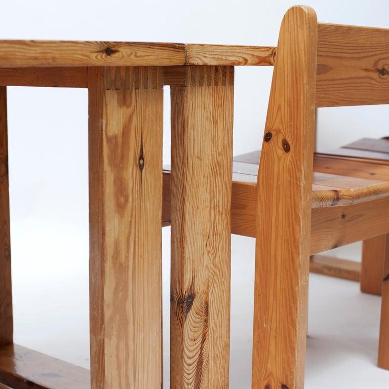 Dutch Pine Dining Chairs by Ate van Apeldoorn, 1970s For Sale