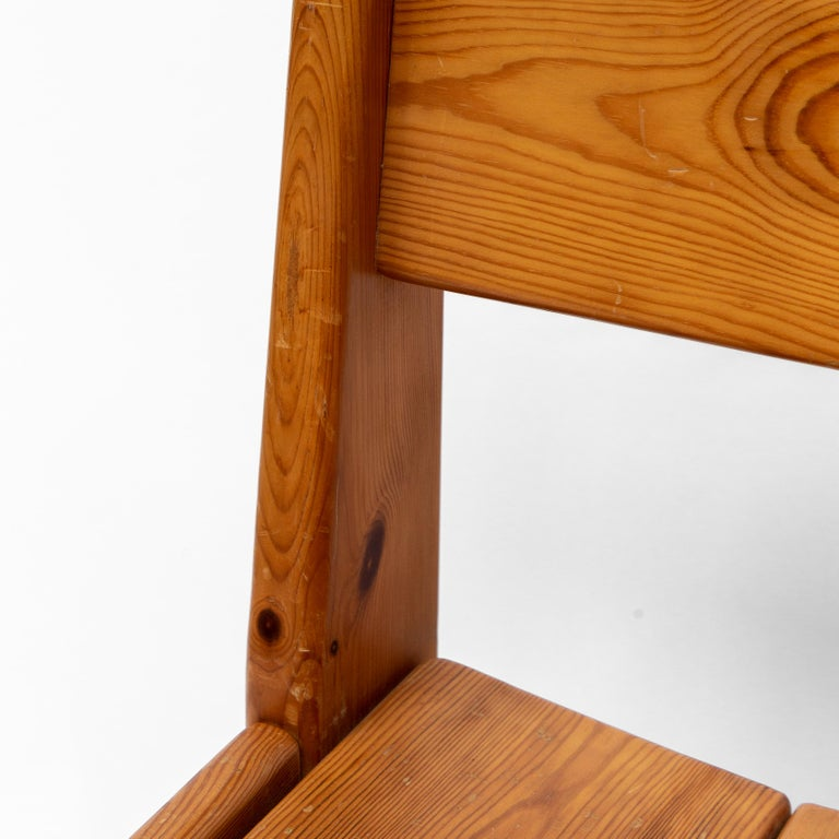 Pine Dining Chairs by Ate van Apeldoorn, 1970s In Good Condition For Sale In AMSTERDAM, NL