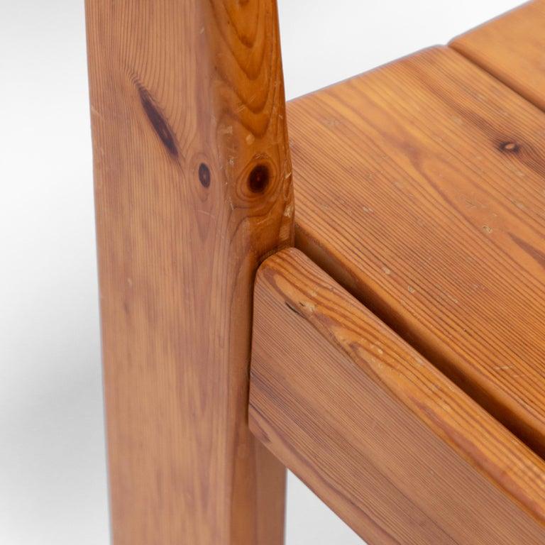 Pine Dining Chairs by Ate van Apeldoorn, 1970s For Sale 1