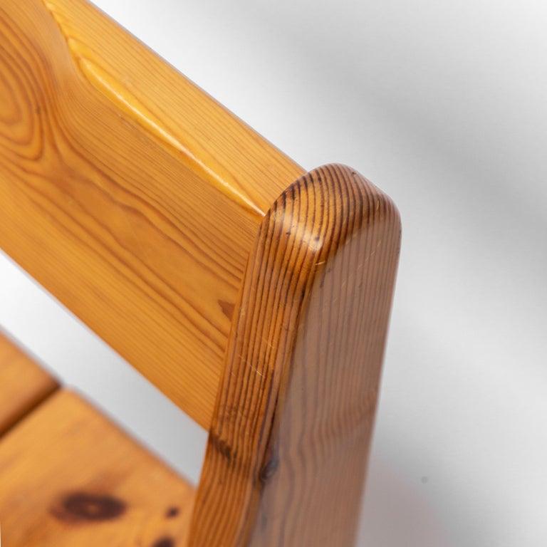 Pine Dining Chairs by Ate van Apeldoorn, 1970s For Sale 3