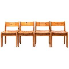 Ate Van Apeldoorn Pine Dining Chairs, 1970s