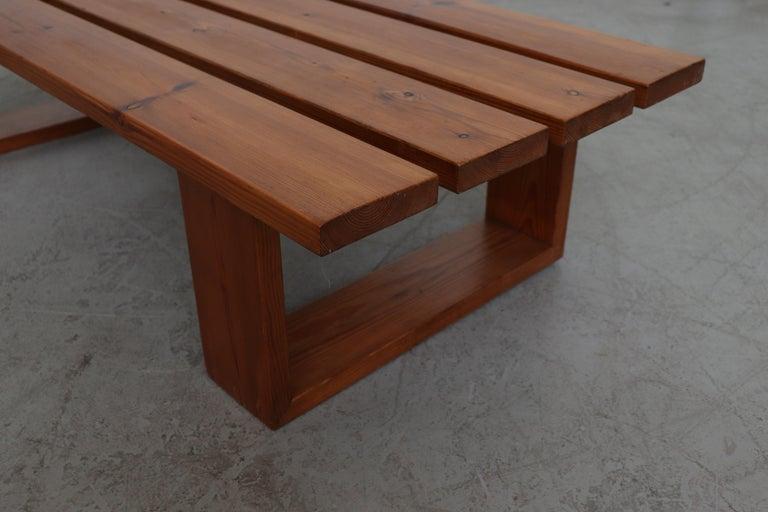 Late 20th Century Ate Van Apeldoorn Pine Slat Bench For Sale