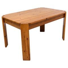 Ate Van Apeldoorn Pine Table with Clipped Corners