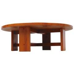 Ate Van Apeldoorn Round Pine Coffee Table