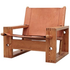 Ate Van Apeldoorn Saddle Leather Lounge Chair