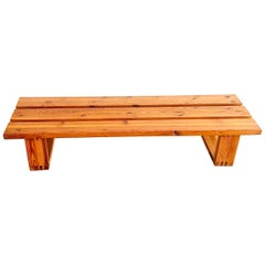 Ate Van Apeldoorn Slat Bench in Solid Pine, Dutch Design from the 1970's