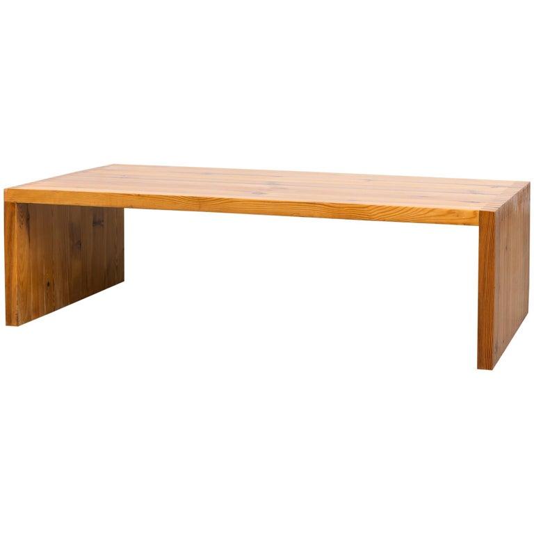 Solid Pine Coffee Table.Ate Van Apeldoorn Solid Pine Coffee Table Bench