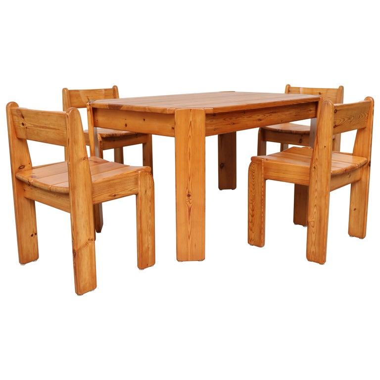 Ate van Apeldoorn Style Pine Dining Set For Sale