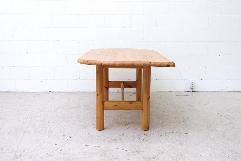Dutch Ate Van Apeldoorn Style Pine Dining Table For Sale