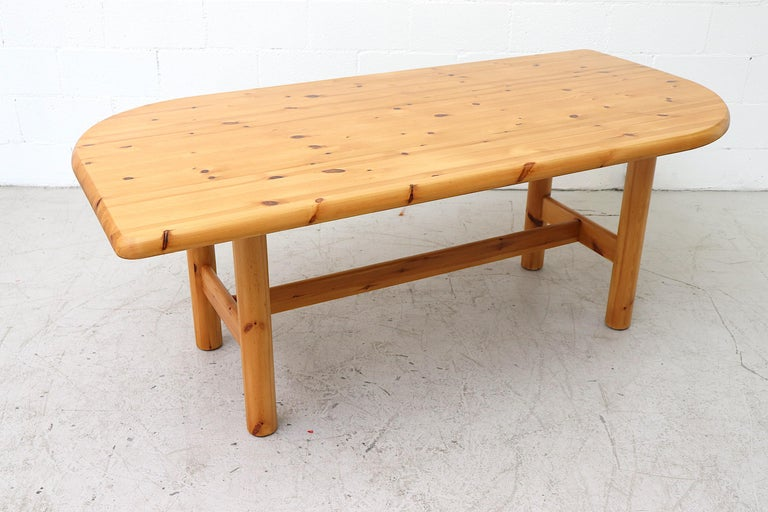 Late 20th Century Ate Van Apeldoorn Style Pine Dining Table For Sale