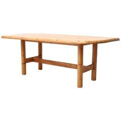 Ate Van Apeldoorn Style Pine Dining Table
