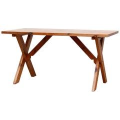 Ate Van Apeldoorn X-Base Pine Dining Table