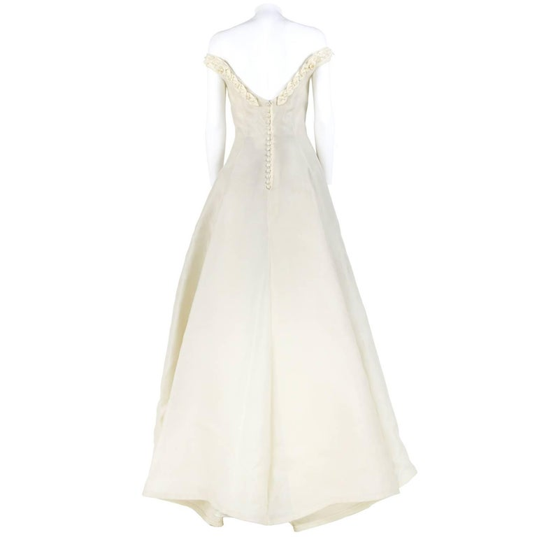 Vintage Wedding Dresses For Sale: Atelier Aimée Ivory Silk Vintage Wedding Dress, 2000s For
