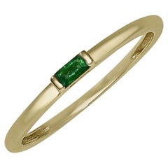 """Atelier All Day 14 Karat Yellow Gold Emerald Pinky and """"Midi"""" Ring"""