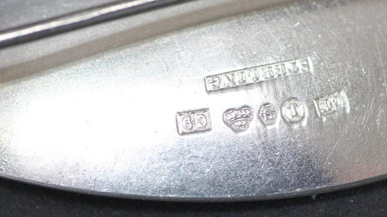 Atelier Borgila Stockholm 1953, Modernist Sterling Silver Brooch For Sale 5