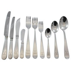 Atelier by Borgila Sterling Silver Flatware Set Service Swedish Modern 122 Pcs