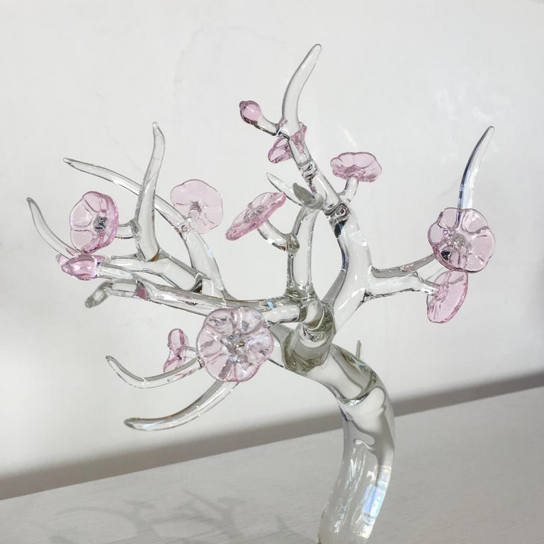 Contemporary Single candle glass sculpture, designed by Simone Crestani For Sale
