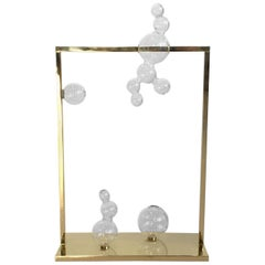 Atelier Crestani, Tall Bubble Vase Glass Sculpture, Made in Italy