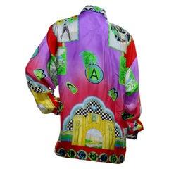 Atelier Gianni Versace Miami Silk Shirt