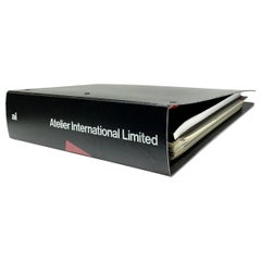 Atelier International Limited & Cassina Trade Catalogue Binder, 1988