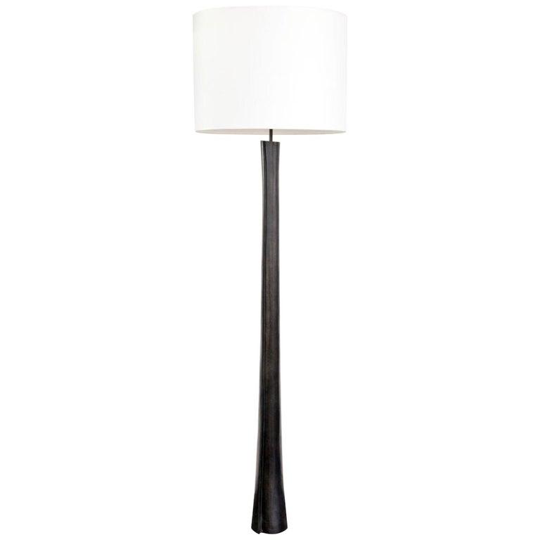 Atelier Linné Lotus Lamp in Cast Bronze For Sale