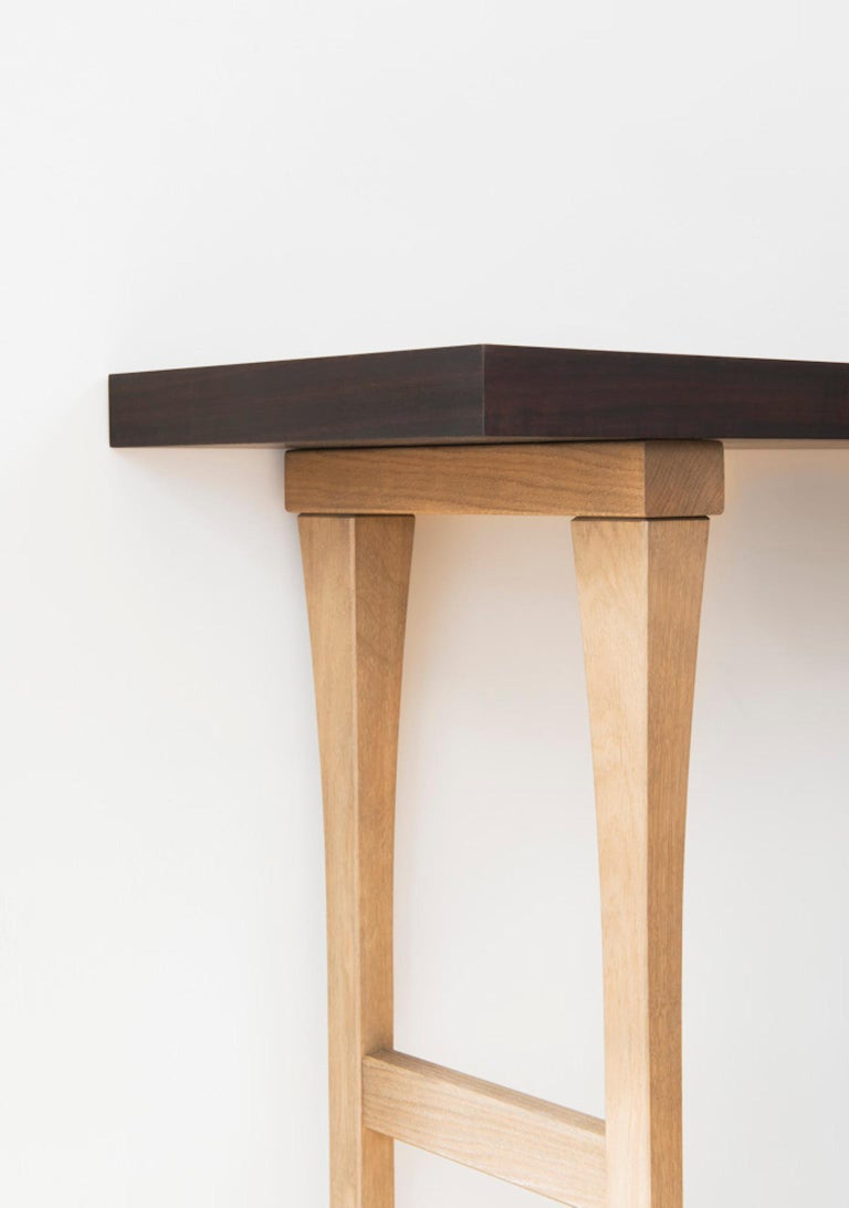 Minimalist Atelier Linné Ming Console in Tinted Oak and Oiled Eucalyptus For Sale