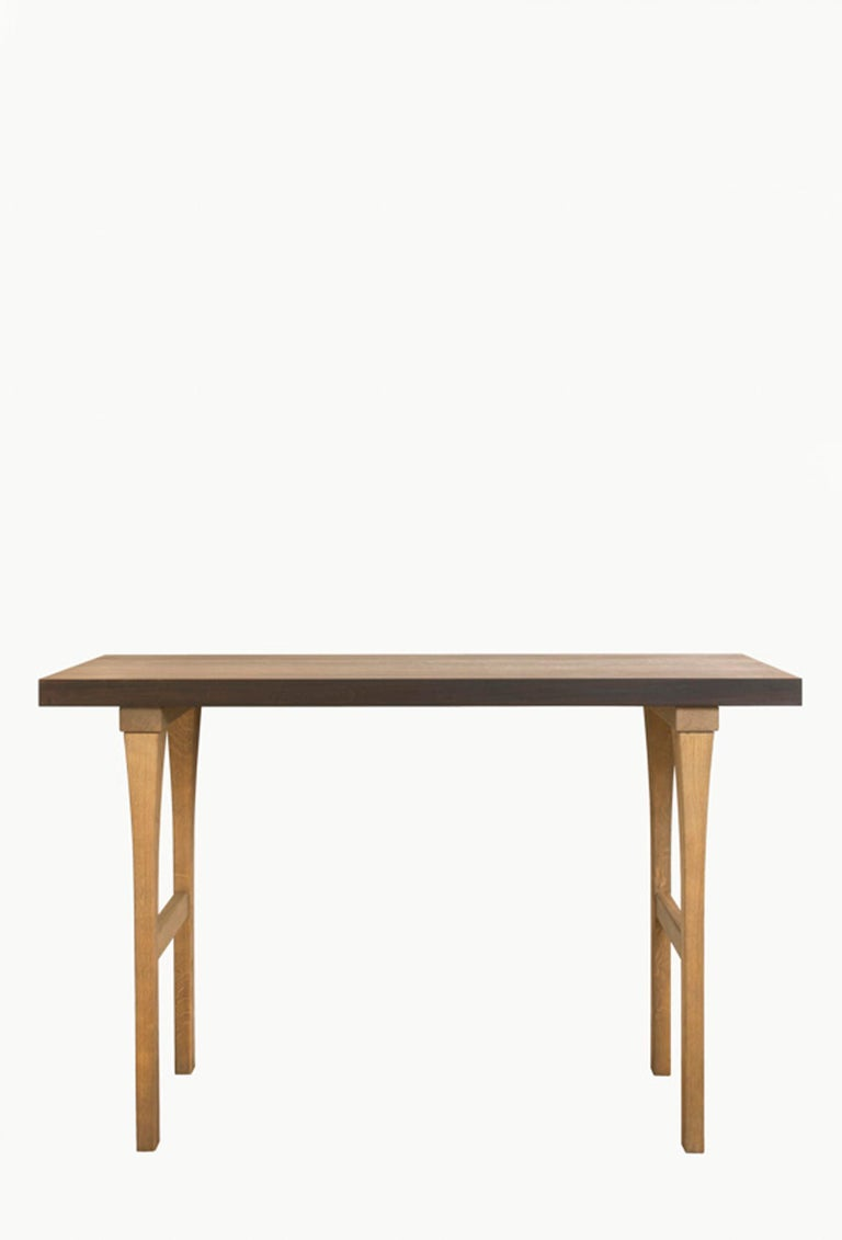 French Atelier Linné Ming Console in Tinted Oak and Oiled Eucalyptus For Sale