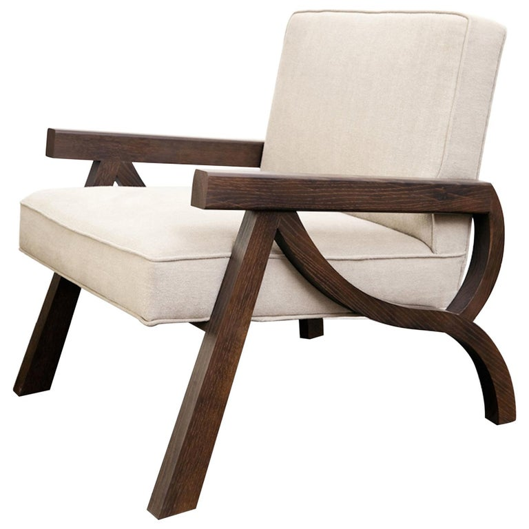 Atelier Linné Pi Armchair in Oak and Fabric For Sale