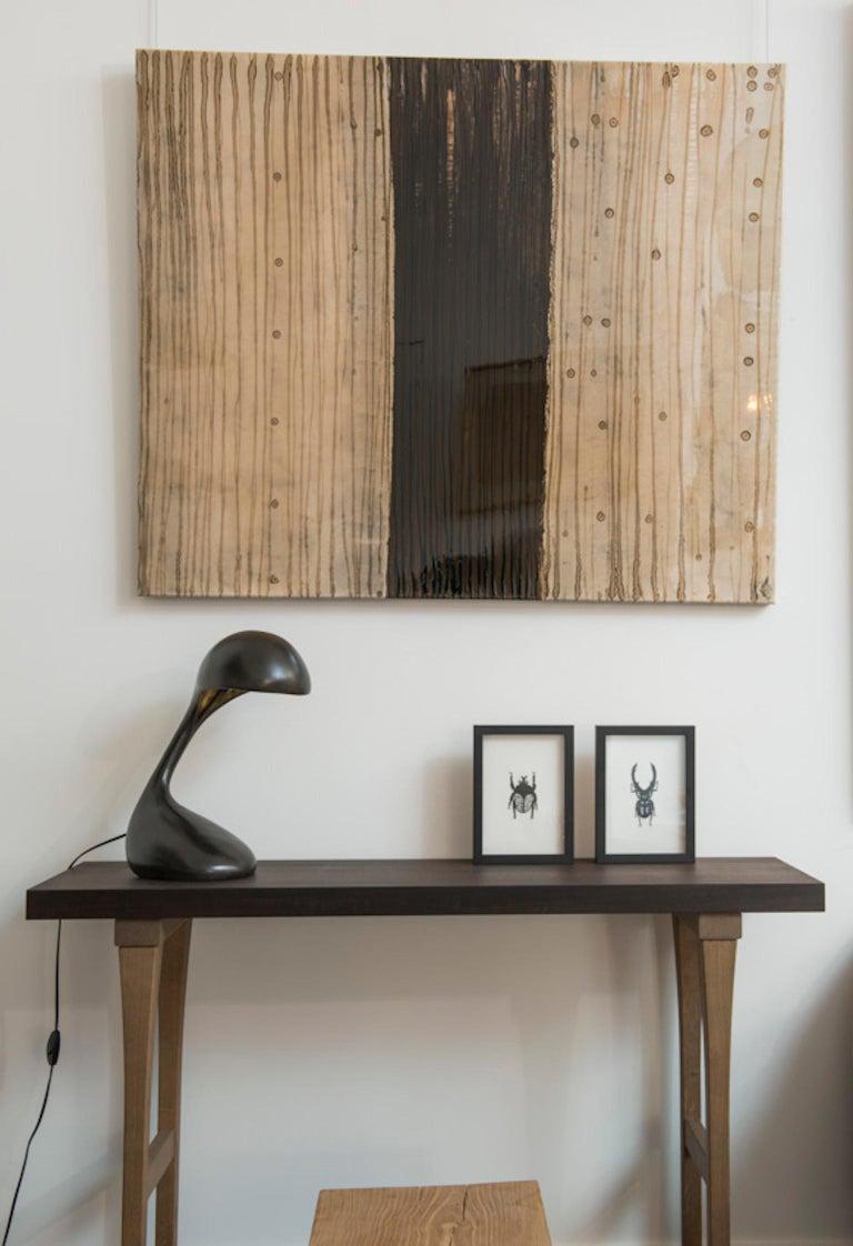 Minimalist Atelier Linné Sculpture Table Lamp in Bronze For Sale
