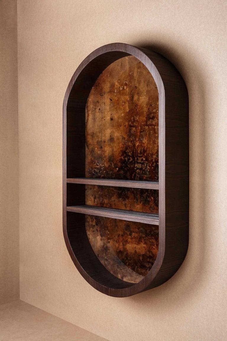 Modern Atelier Linné x Denis Perrollaz Shelf Éléments in Pine and Lacquer For Sale